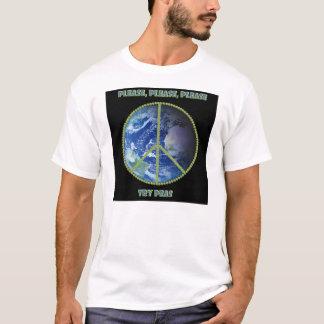 Camiseta Tente por favor ervilhas