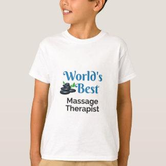 Camiseta Terapeuta da massagem do mundo o melhor