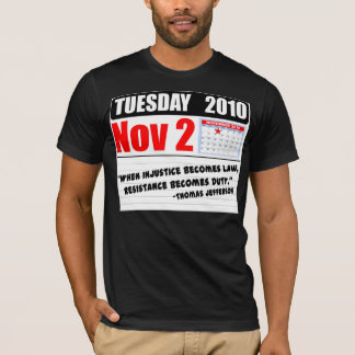 Camiseta Terça-feira 2 de novembro de 2010 - chamadas do
