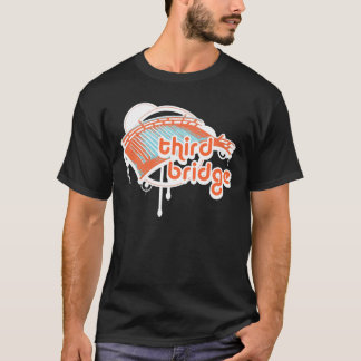Camiseta terceira ponte. orange&blue.