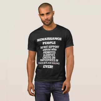 Camiseta TERMINE-O! - preto na violência preta