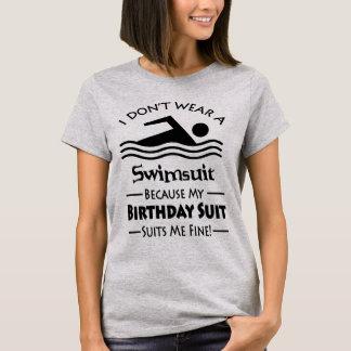 Camiseta Terno de aniversário de mergulho magro