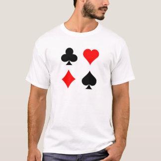 Camiseta Ternos do cartão do vinte-e-um/póquer: Arte do