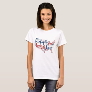 Camiseta Terra da casa livre do bravo 4o julho T