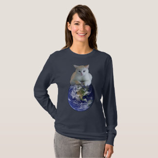 Camiseta Terra da regra dos gatos