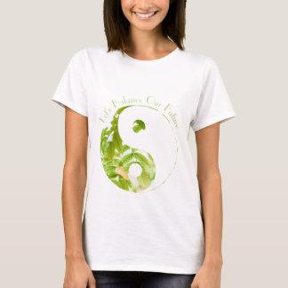 Camiseta Terra de Yin Yang - deixe-nos equilibrar nosso T