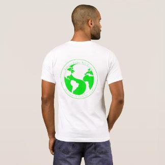 Camiseta Terra de Yin Yang - vai o verde para mostrar-lhe o