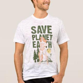 Camiseta Terra do planeta das economias da mulher maravilha