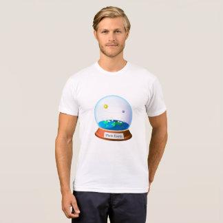 Camiseta Terra Plana em um globo