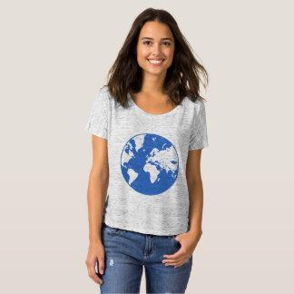 Camiseta Terra/t-shirt simples Bella Flowy das mulheres