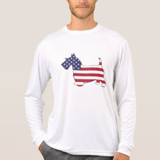 "Camiseta Terrier escocês - ""bandeira americana """