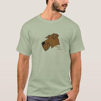 Camiseta Terrier irlandesa cabeça silhueta