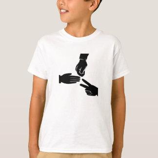 Camiseta Tesouras de papel da rocha