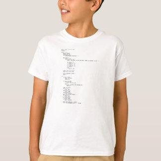 Camiseta Tesouras de papel da rocha, programação do pitão