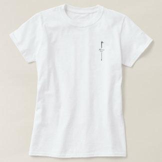 Camiseta Tesouras pretas quentes BRANCAS de MELTPOINT