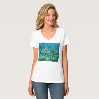 Camiseta Tesouro do recife de corais da sereia