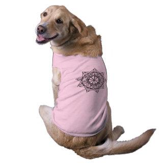 Camiseta Teste padrão 1074 da matemática - roupa do animal