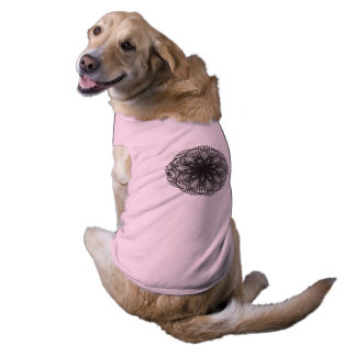Camiseta Teste padrão 1716 da matemática - roupa do animal