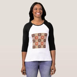Camiseta teste padrão africano étnico com simbols de