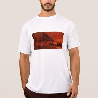 Camiseta Teste padrão artístico do baixo design poli