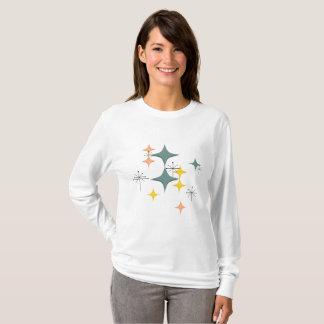 Camiseta Teste padrão atômico moderno de Eames Starbursts