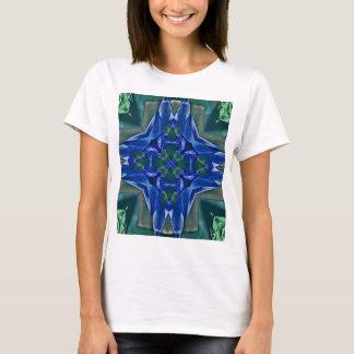 Camiseta Teste padrão bonito da forma da cruz dos azuis