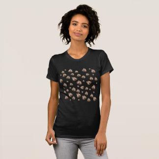 Camiseta Teste padrão bonito de Emoji do tombadilho