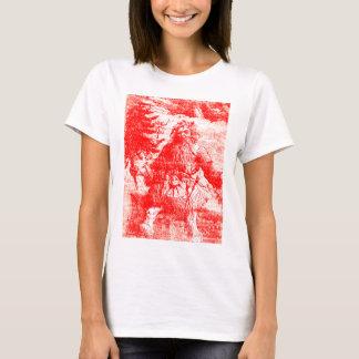 Camiseta Teste padrão colonial do período de Toile Papai