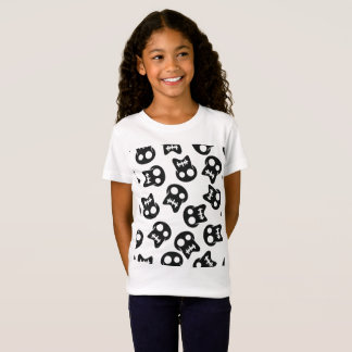 Camiseta Teste padrão colorido do crânio cómico