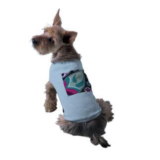 Camiseta Teste padrão cor-de-rosa de Paisley da cerceta