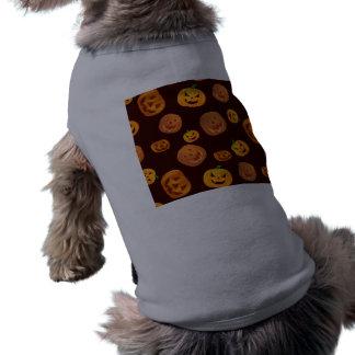 Camiseta Teste padrão da abóbora da Jack-O-Lanterna do Dia
