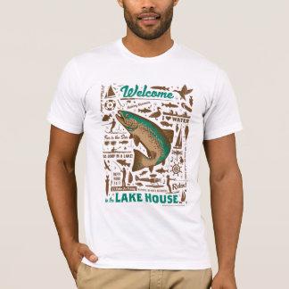 Camiseta Teste padrão da casa do lago