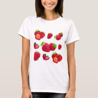 Camiseta Teste padrão da fruta da morango