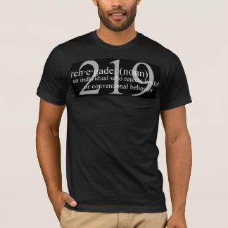 Camiseta Teste padrão da obscuridade do renegado 219
