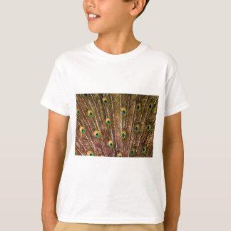 Camiseta Teste padrão da pena do pavão