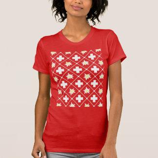 Camiseta Teste padrão de Edelweiss da suiça