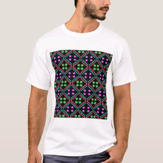 Camiseta teste padrão de pontos colorido