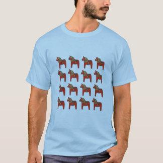 Camiseta Teste padrão do cavalo de Dala do sueco