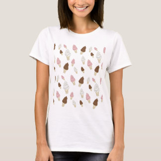 Camiseta Teste padrão do cone do sorvete