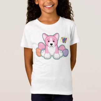 Camiseta Teste padrão do Corgi do primavera de Lil