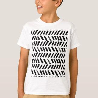 Camiseta Teste padrão do corte do Brushstroke