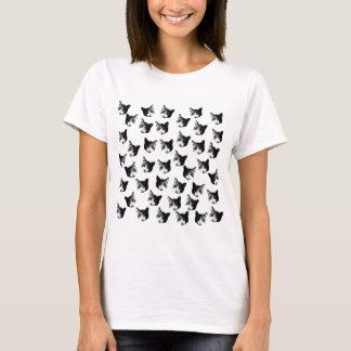Camiseta Teste padrão do gato