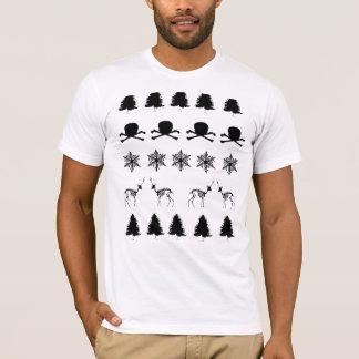 Camiseta Teste padrão do inverno