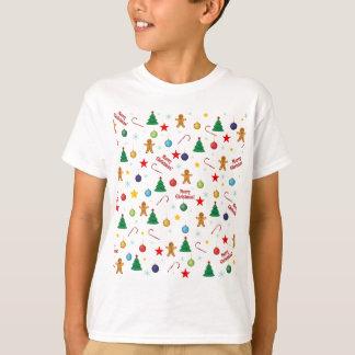 Camiseta Teste padrão do Natal