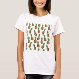 Camiseta Teste padrão do papel de parede do abacaxi