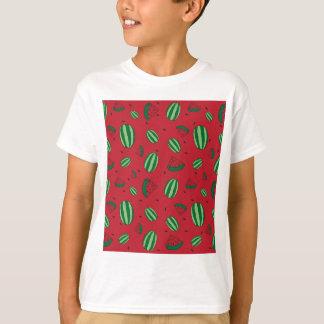Camiseta Teste padrão do vermelho da melancia