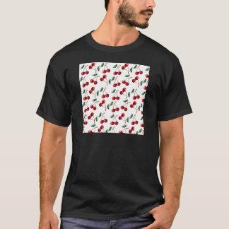 Camiseta Teste padrão do vermelho de cereja