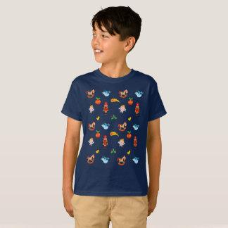 Camiseta Teste padrão do Xmas do Nutcracker, do cavalo, do