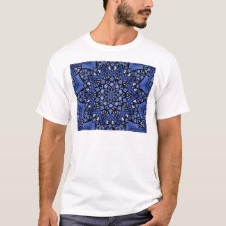 Camiseta Teste padrão dos azuis cobaltos
