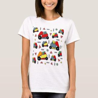 Camiseta Teste padrão dos carros do brinquedo